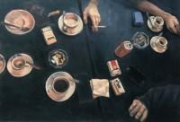 oil & oil pastel, 59.5 x 87.5 cm